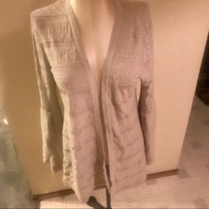 NWT style & co. Pointelle  bell sleeve cardigan M